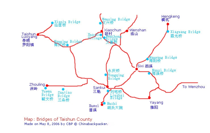 Map Taishun County, China