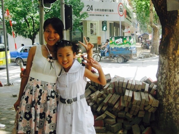 Mother and daughter Jinan China