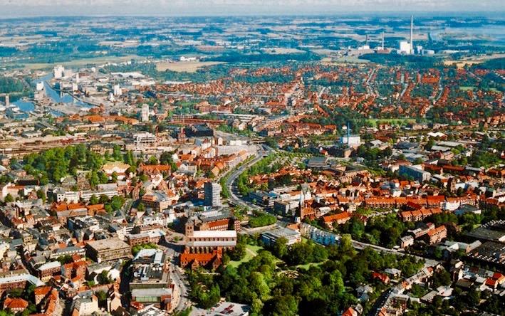 Odense Denmark aerial view