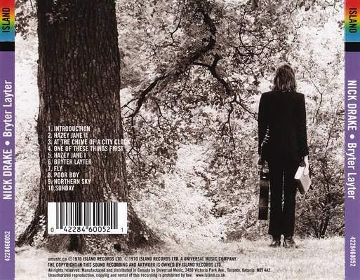 Back cover Bryter Layter Nick Drake album review