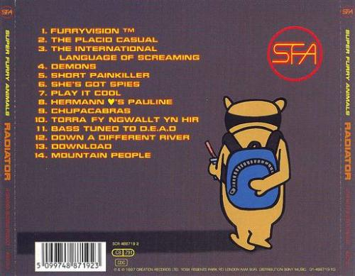 Back cover Radiator Super Furry Animals album review