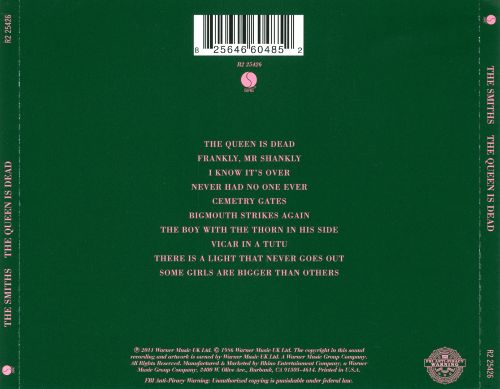 Back cover The Queen is Dead The Smiths