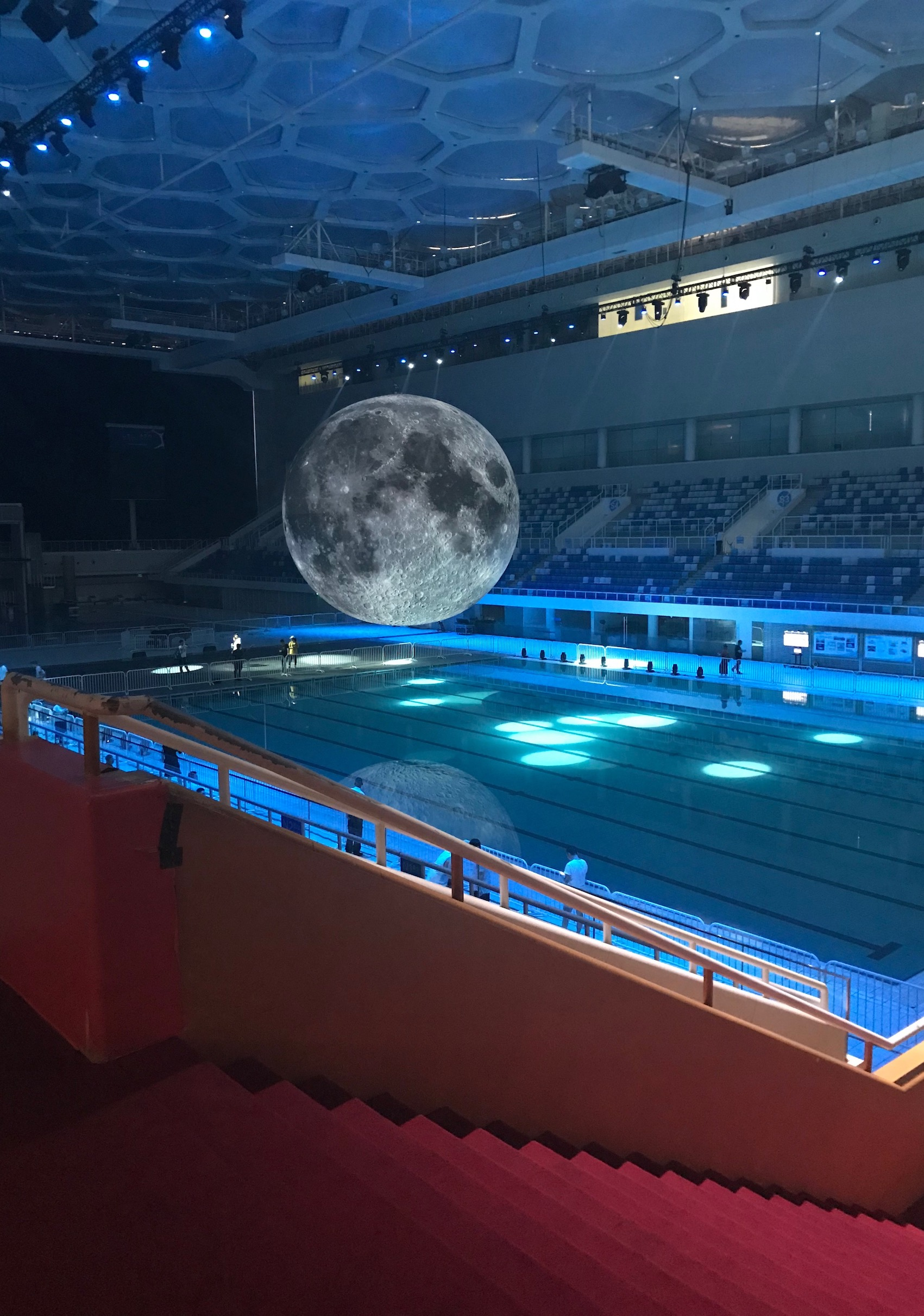 Luke Jerram's Museum of the Moon The Water Cube National Aquatics Center Beijing
