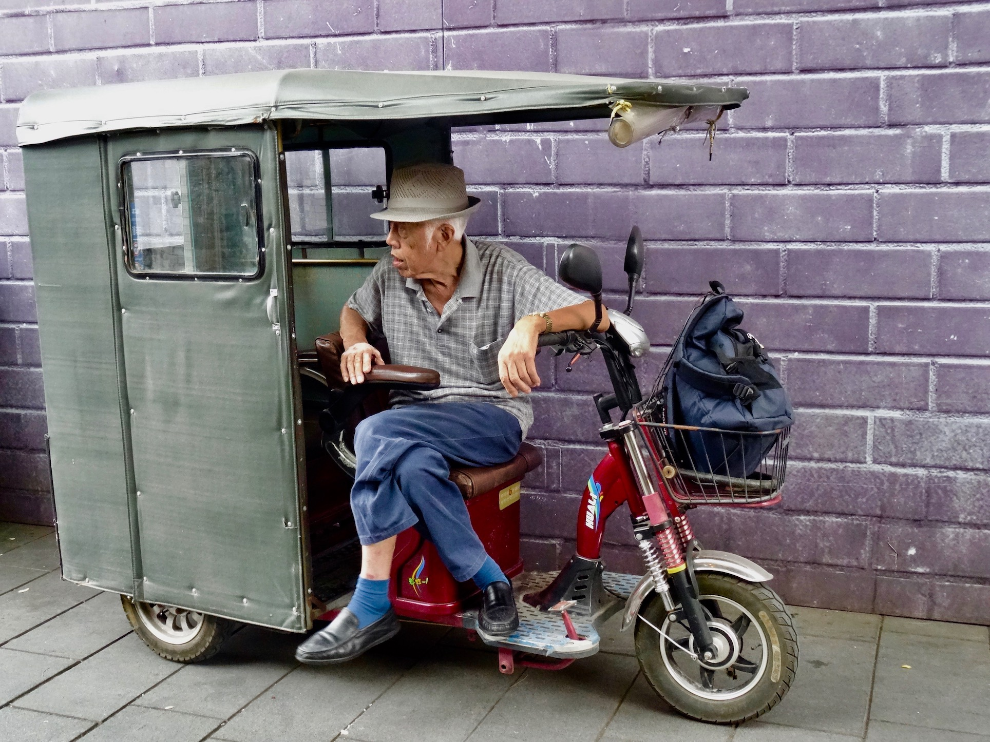 Old man Nanluoguxiang hutong Beijing