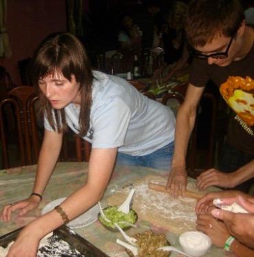 Dumpling making Impression Inn Miyun Beijing