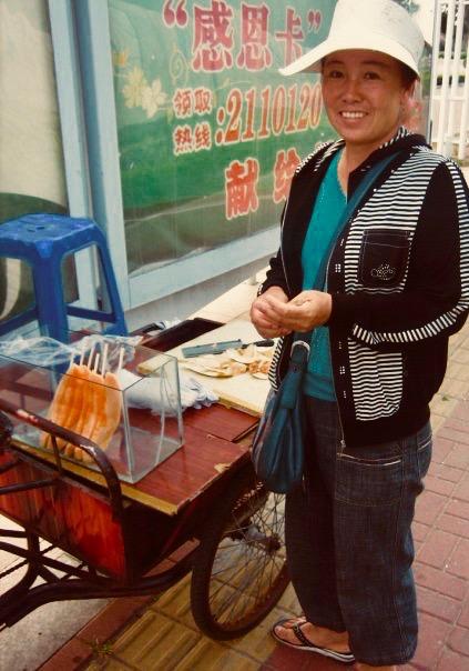 Melon seller Yantai Shandong Province China