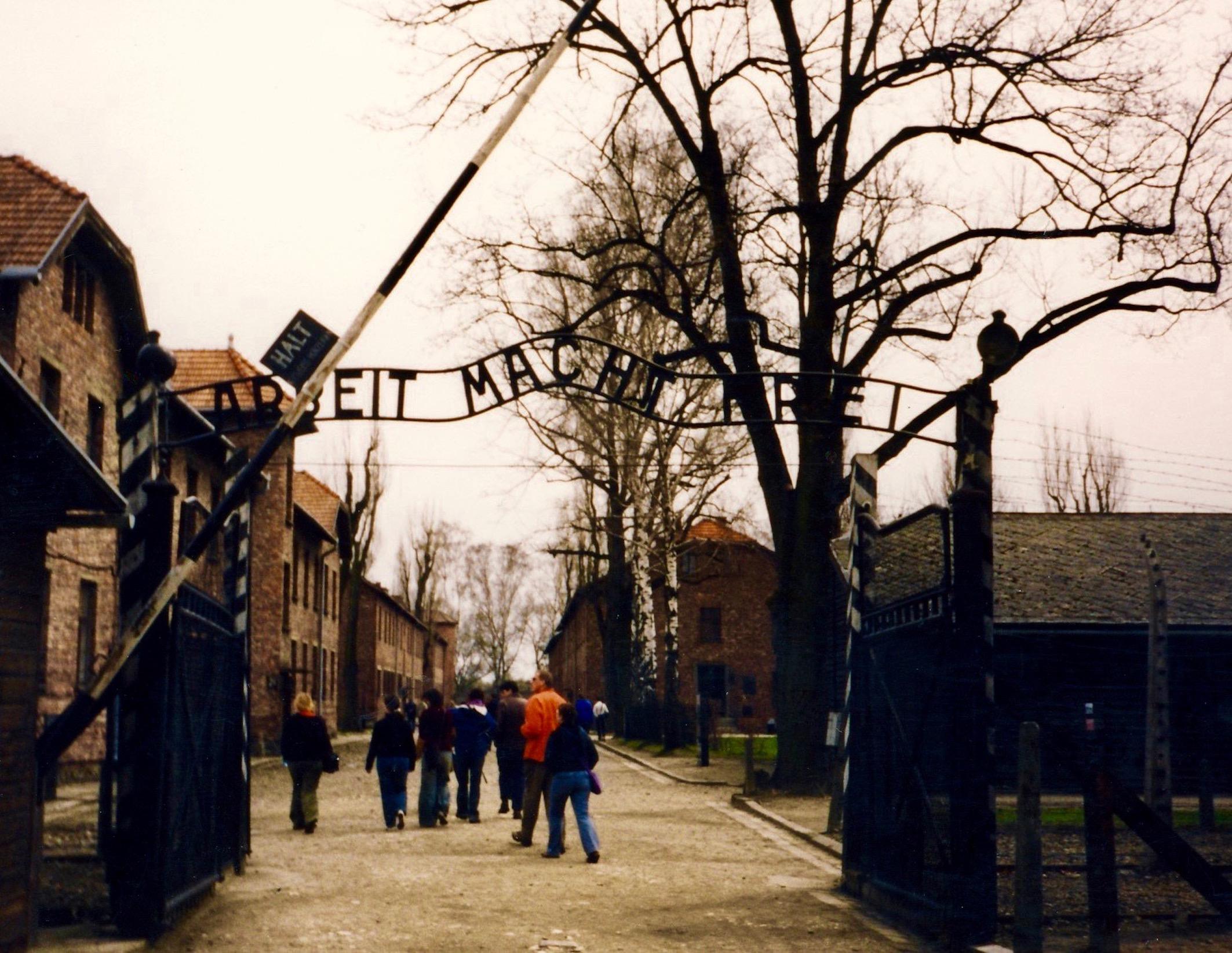 Auschwitz entrance gates Arbeit Macht Free Work sets you free
