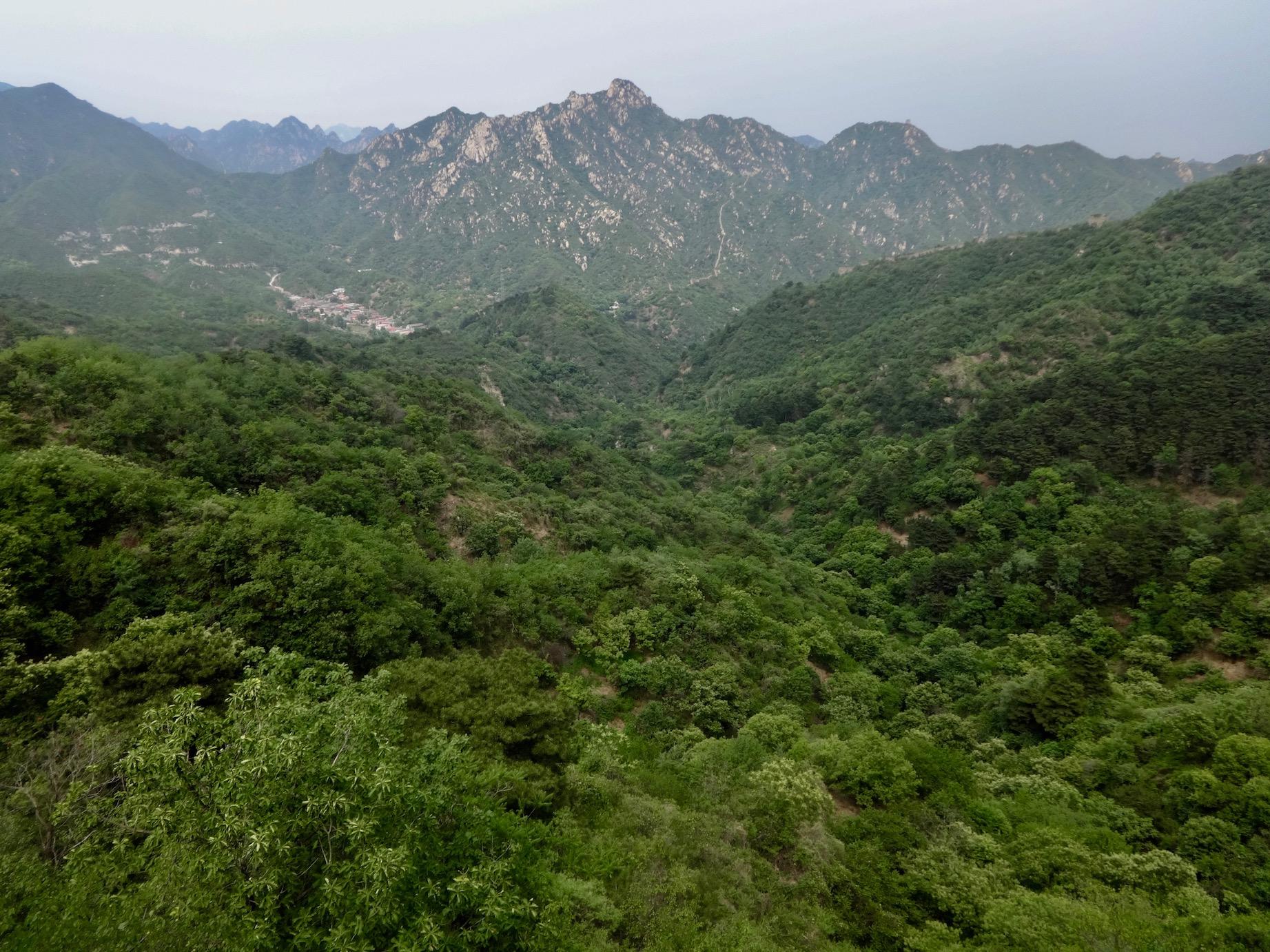 Mountain views Mutianyu The Great Wall of China