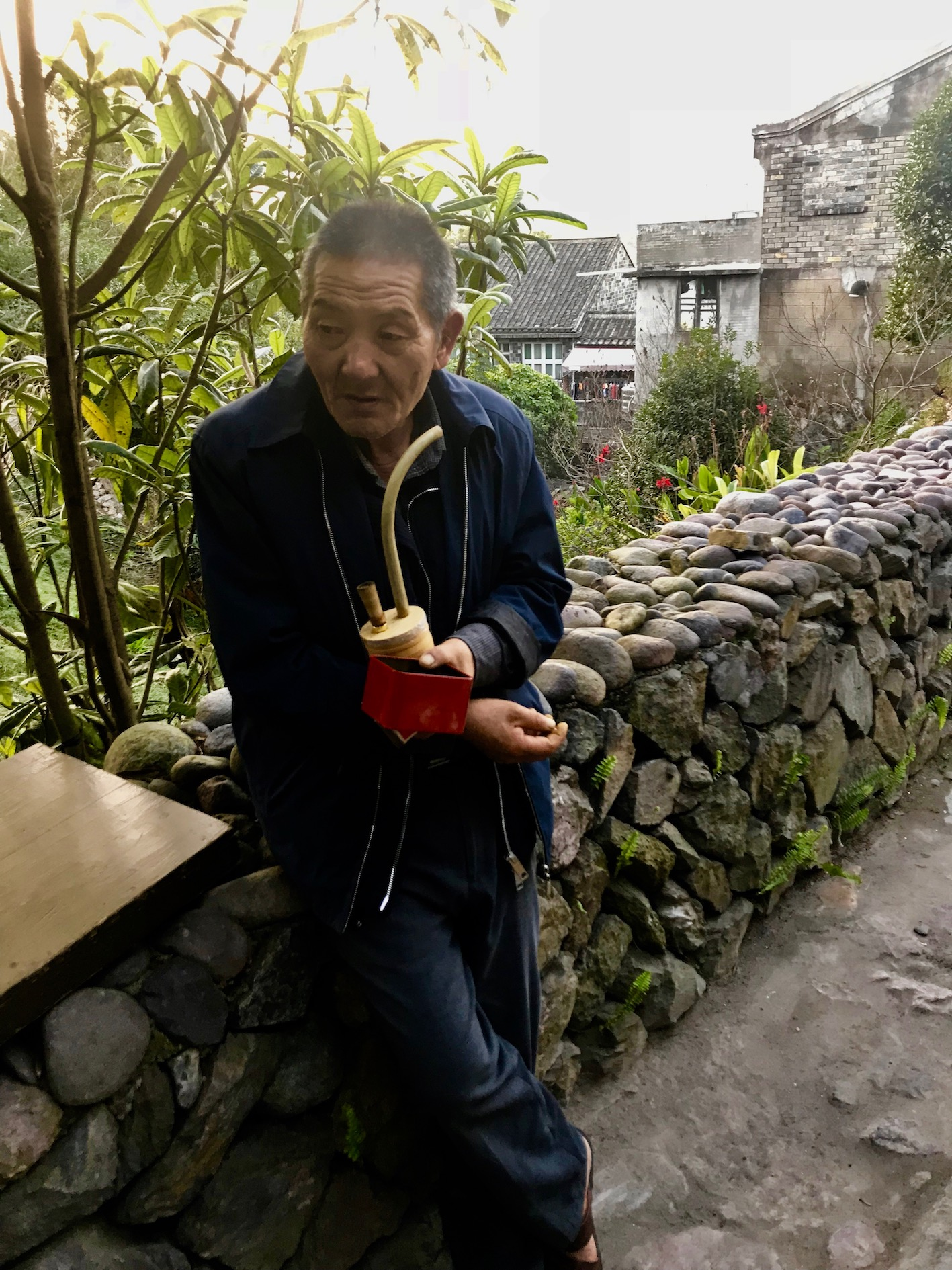 Old man Fudewan Ancient Village Cangnan County Zhejiang Province China