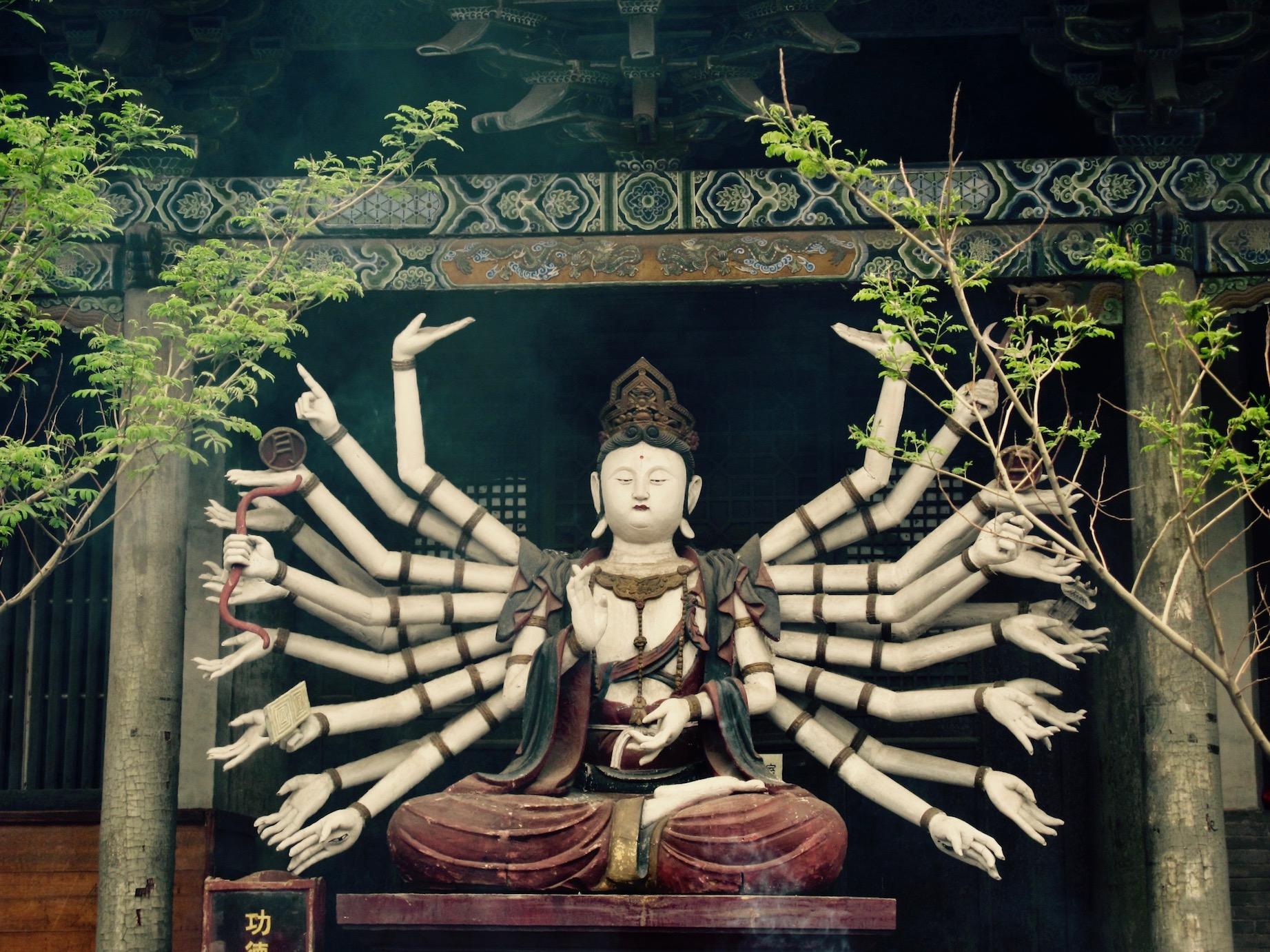 One thousand hand buddha Shuanglin Temple Pingyao Shanxi Province China