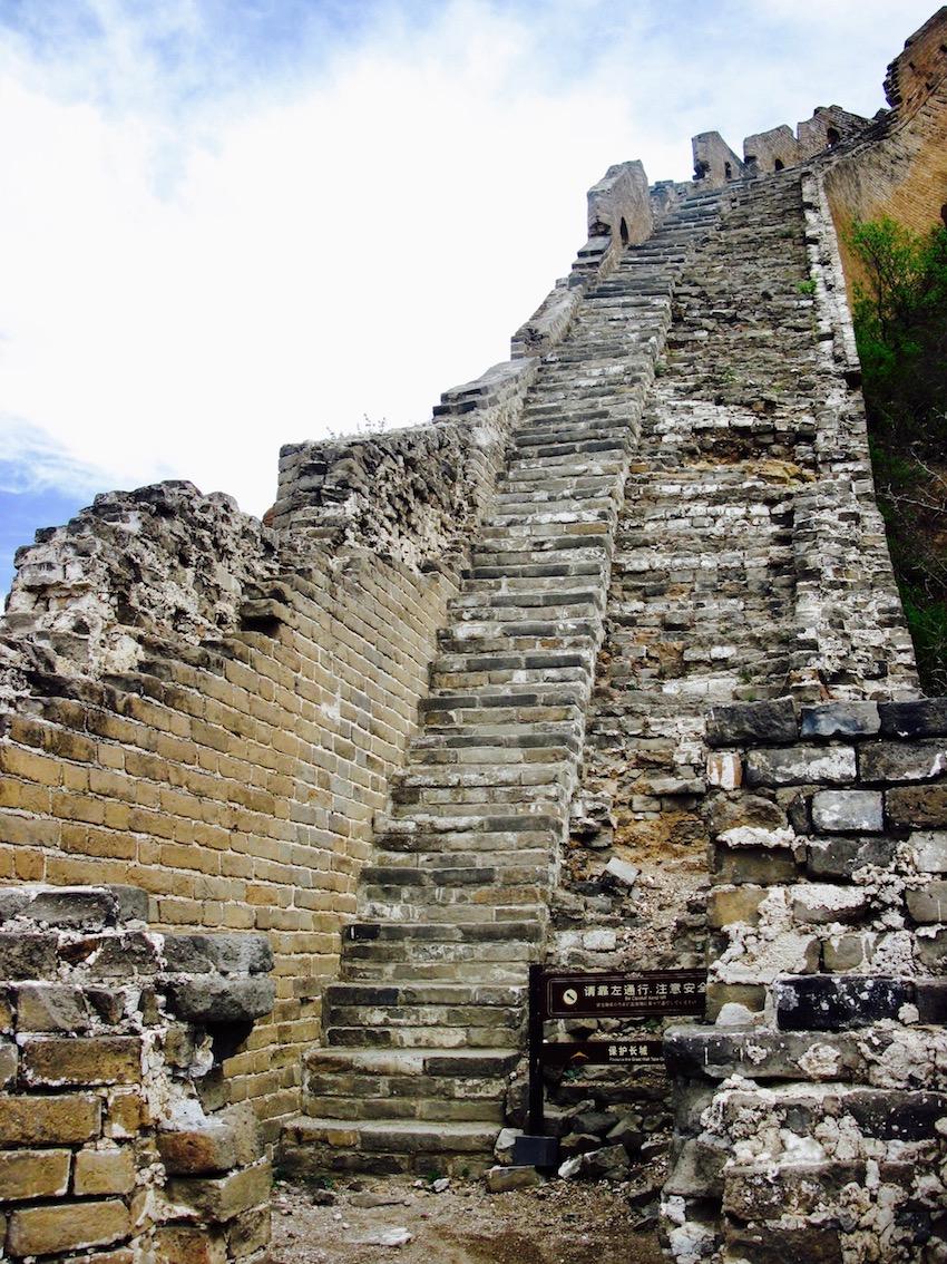 Staircase Great Wall of China Jinshanling to Simatai hike