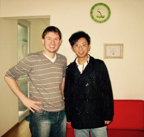 Teaching James Bond English school Shangdi Beijing