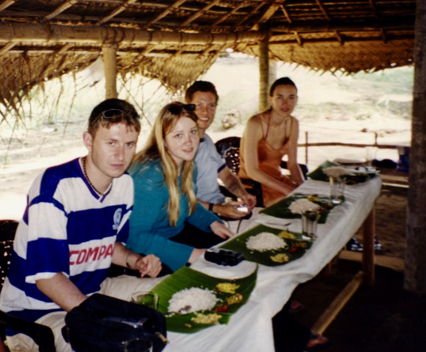 Traditional lunch Kerala Backwaters cruise India