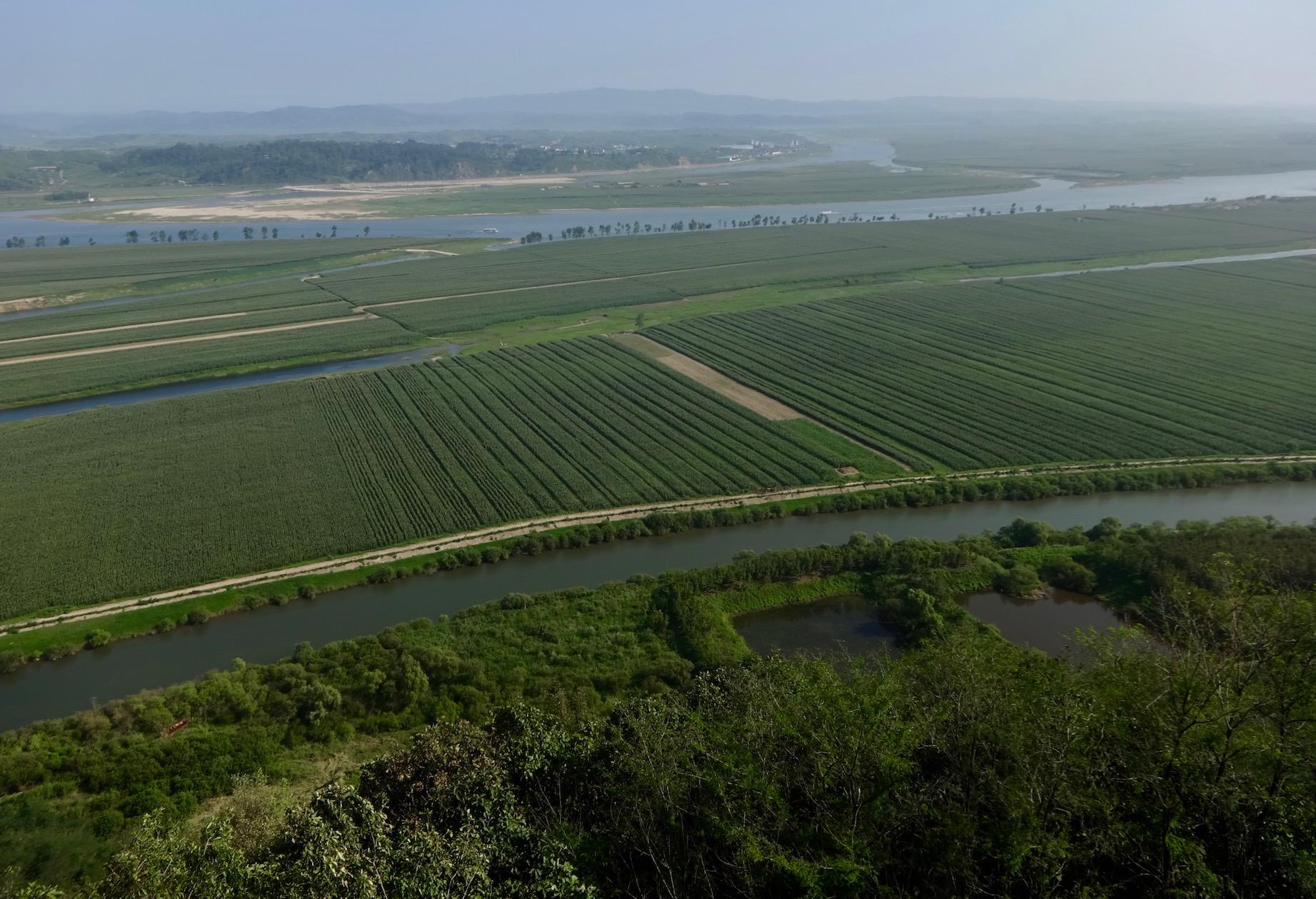 Views over North Korea Tiger Mountain Great Wall Dandong China
