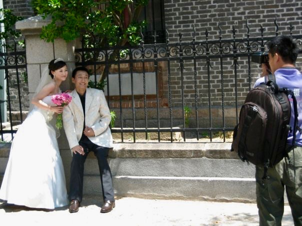 Wedding photoshoot Qingdao Catholic Church Shandong Province China