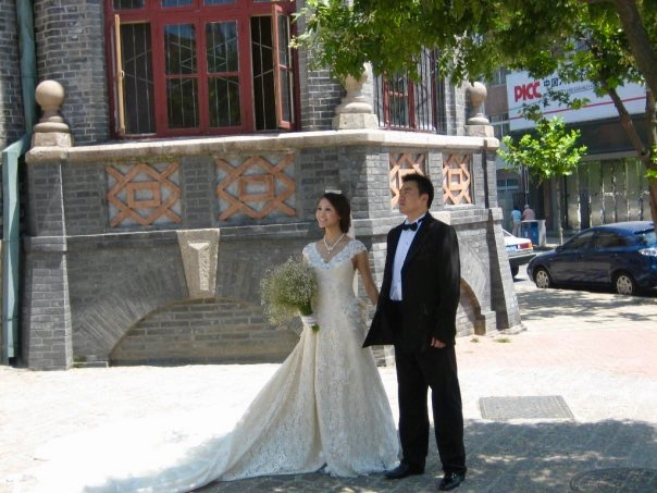 Wedding photoshoot St. Michael's Cathedral Qingdao Shandong Province China
