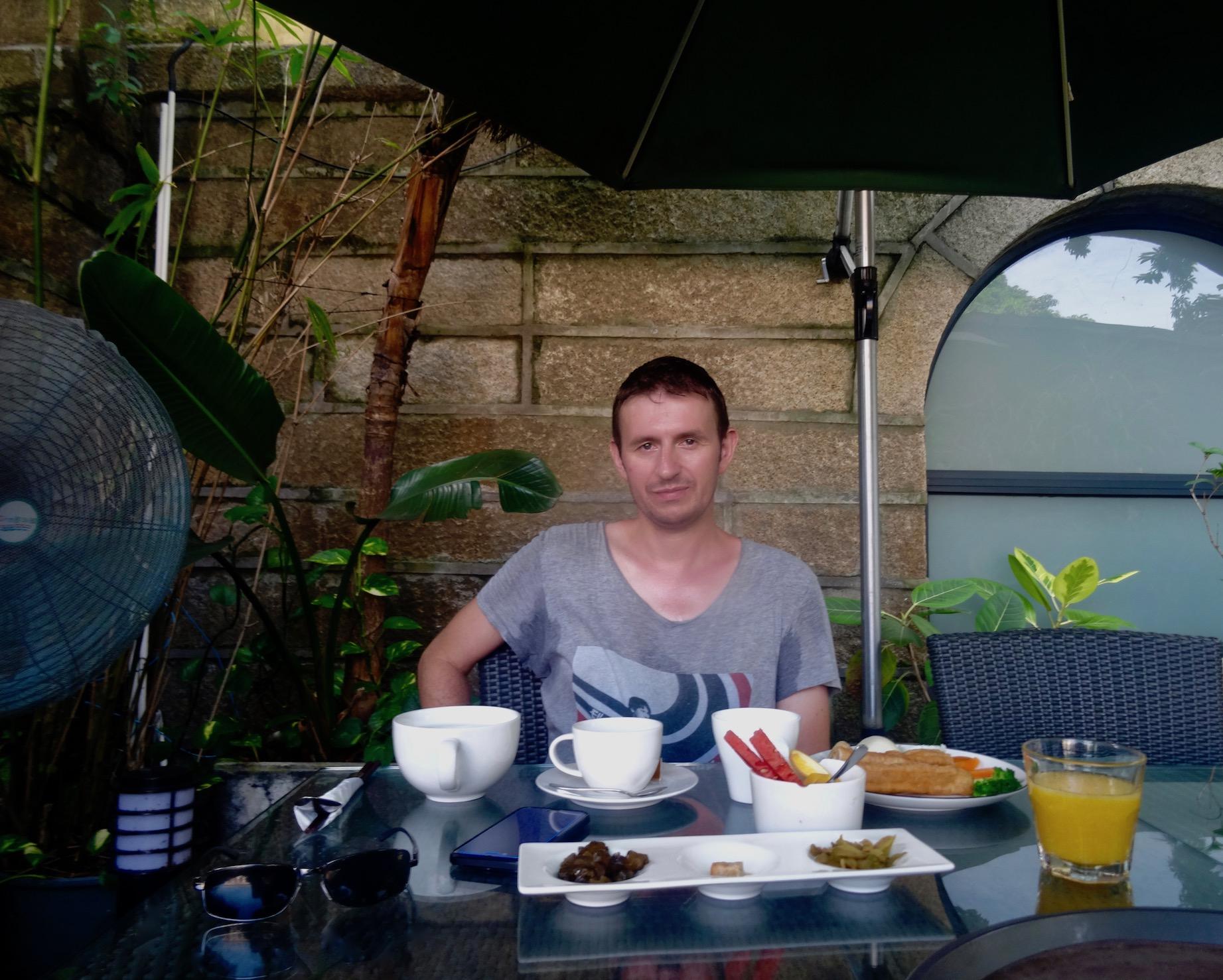 Courtyard restaurant Gulangyu Island Xiamen Fujian province China