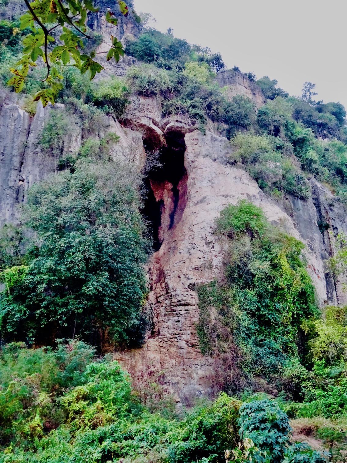 Phnom Sampeau bat cave Battambang province Cambodia