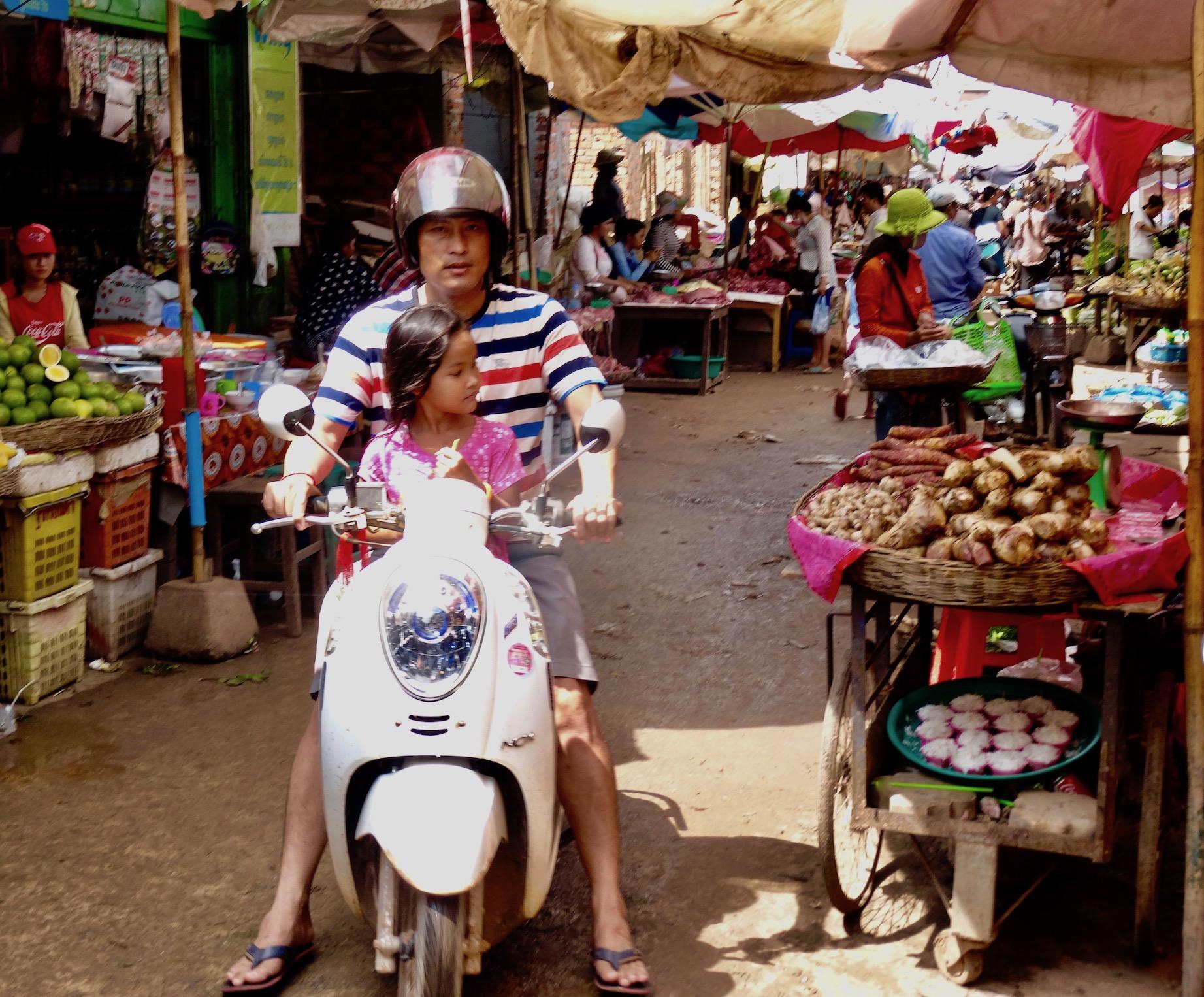 Psar Leu Market Siem Reap Cambodia