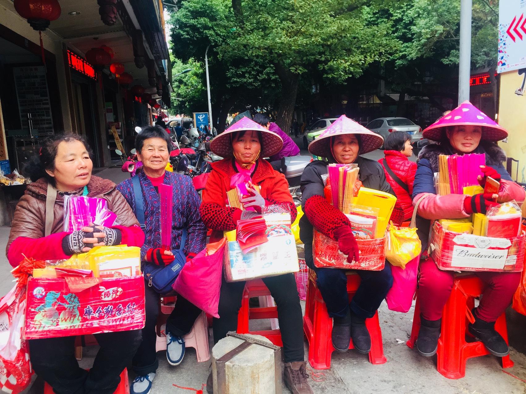 Souvenir vendors Guandi Temple Quanzhou Fujian Province China