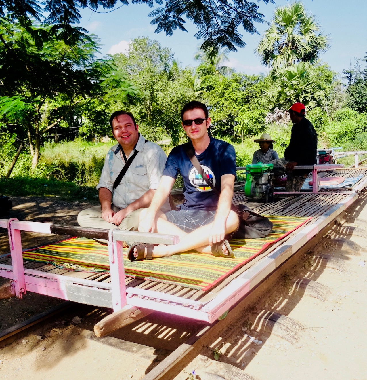 The Battambang Bamboo train Cambodia