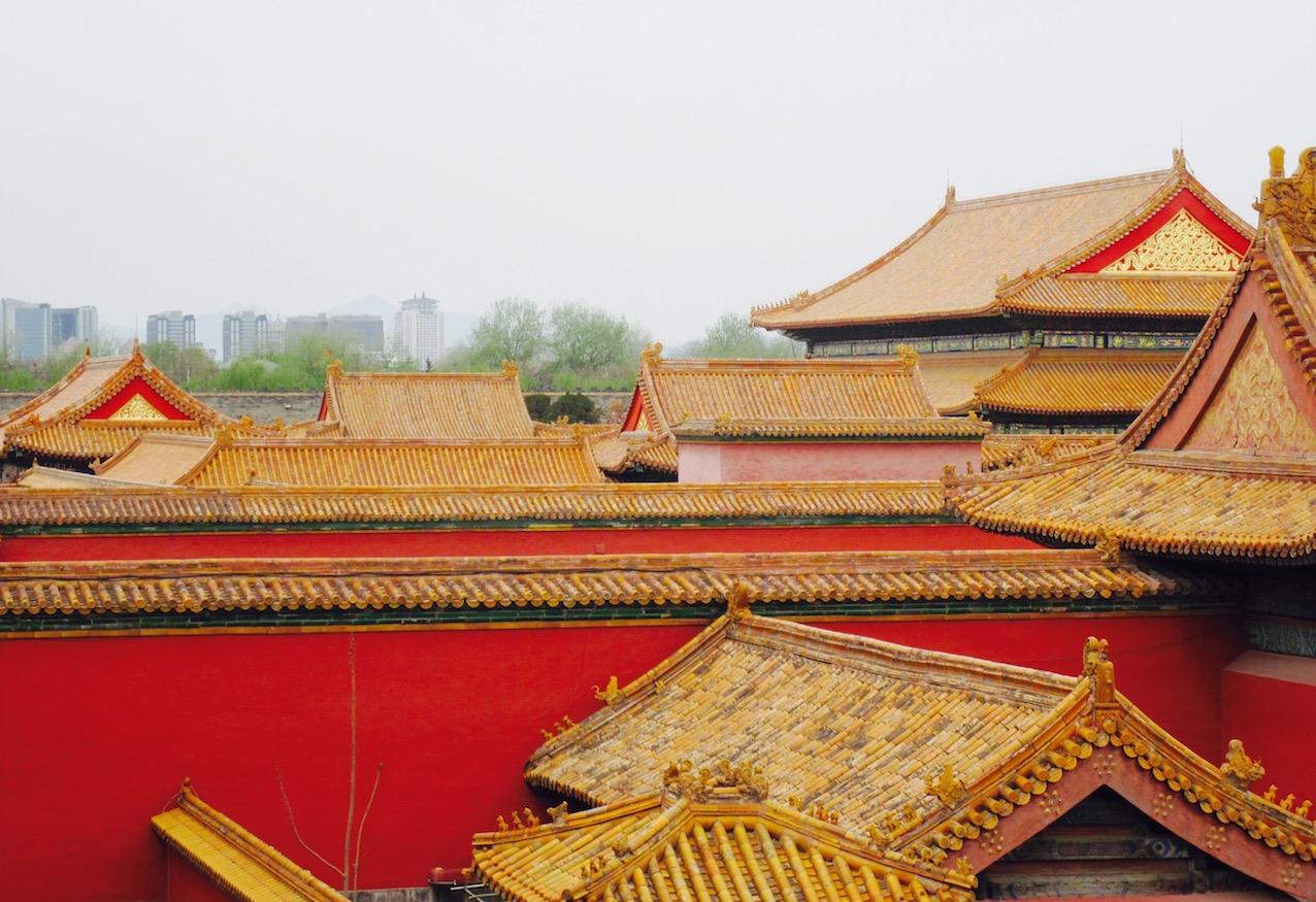 The Forbidden City skyline Beijing