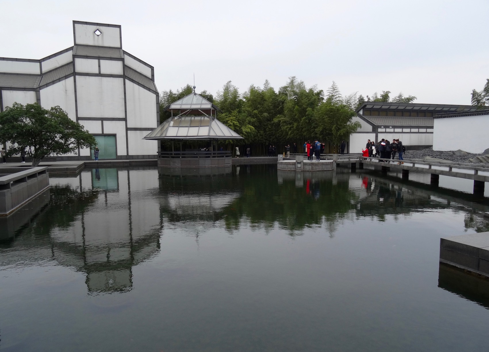 Fish pond Suzhou Museum Jiangsu Province China