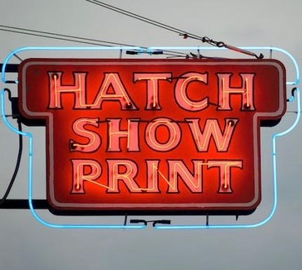 Hatch Show Print exterior sign Nashville Tennessee
