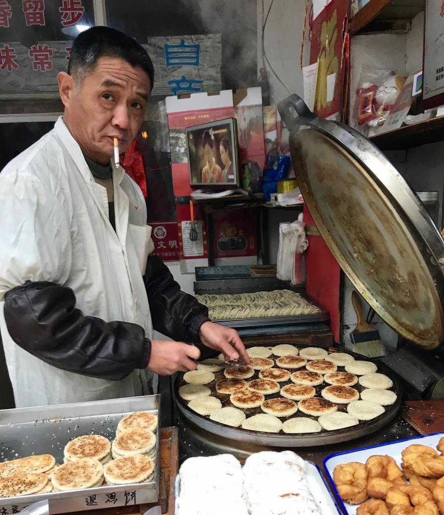 Salty pancakes Tongli Water Town China