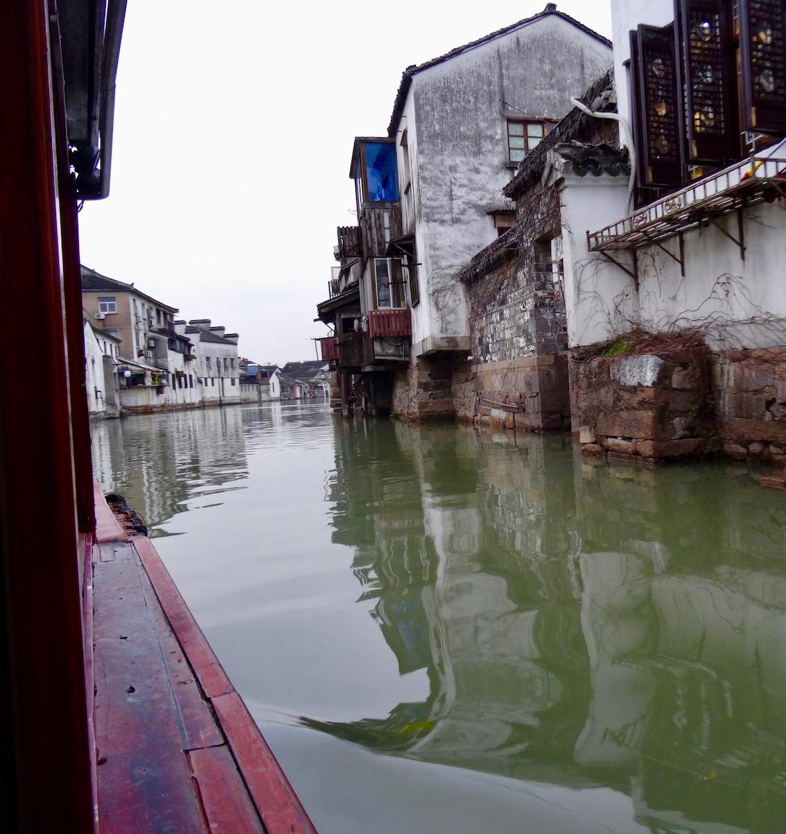 Suzhou canal cruise from Shantang Street Jiangsu Province China.