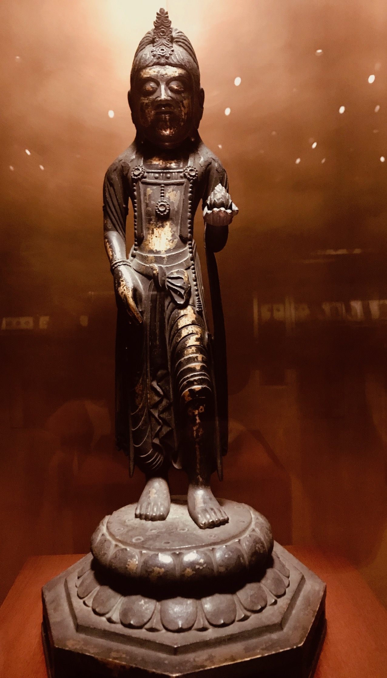 7th century gilt copper Buddha statue The Gallery of Horyuji Treasures Tokyo National Museum