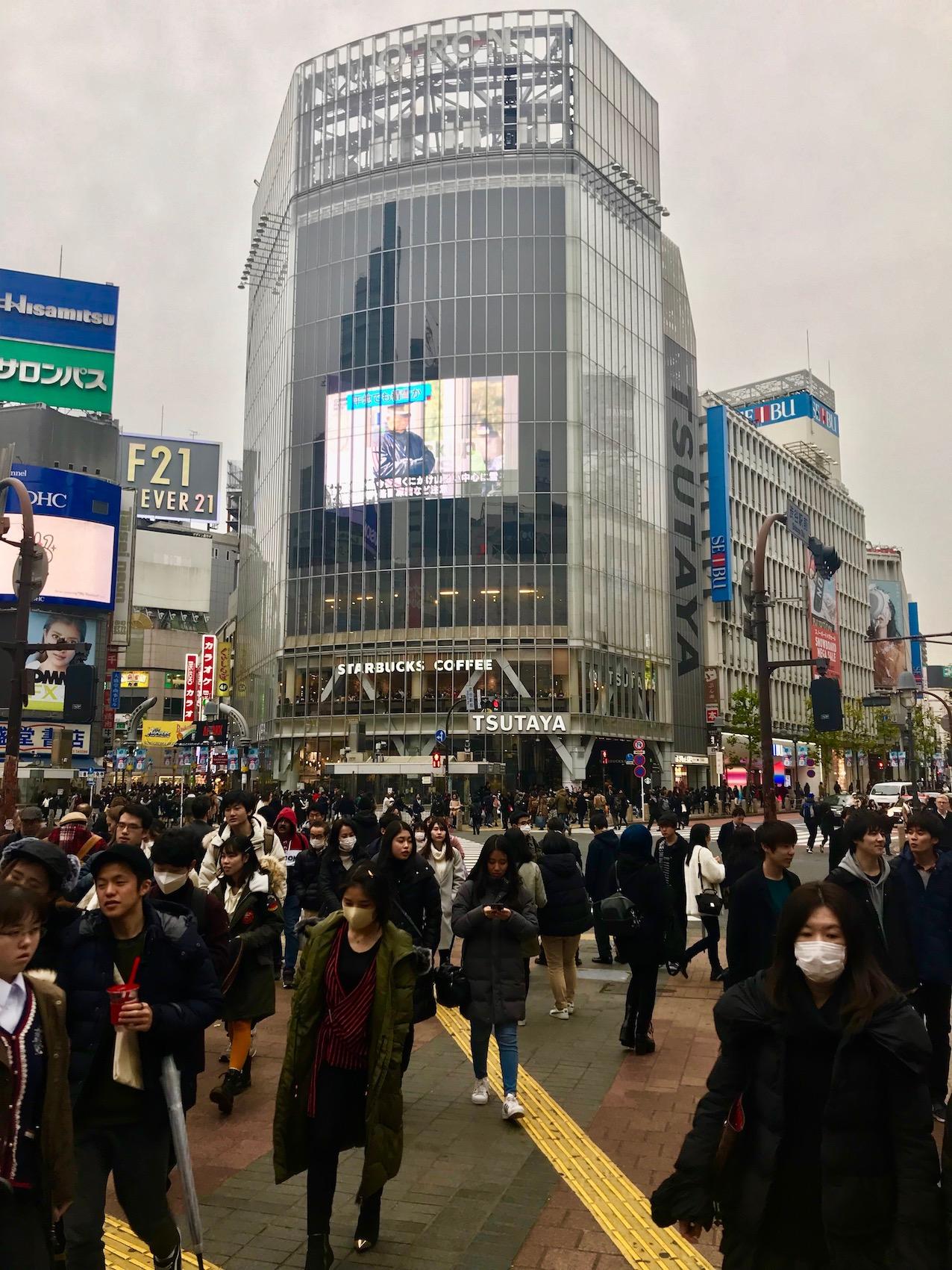 Shibuya Crossing & Q Front Building Tokyo