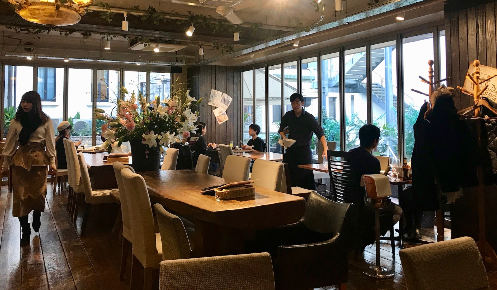 Blue Garden Restaurant Brahms Path Harajuku Tokyo