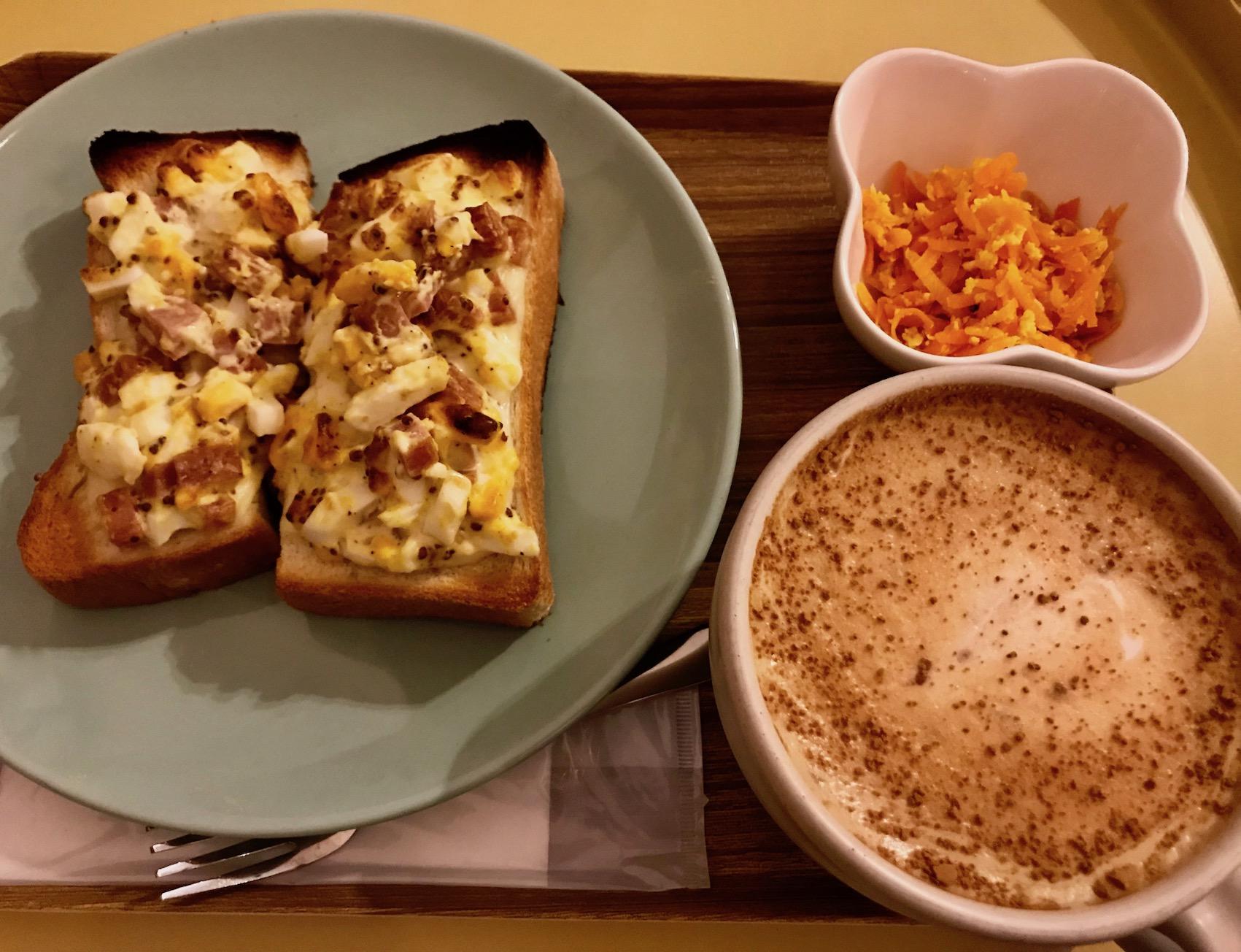 Breakfast at Nananamoe Coffee Asakusa Tokyo