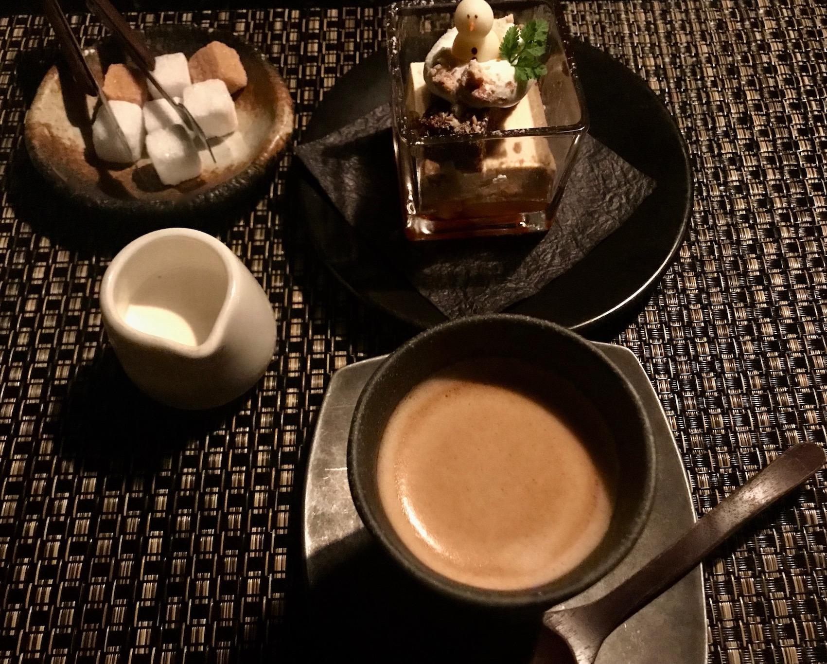 Coffee and tiramisu The Ninja Restaurant Tokyo