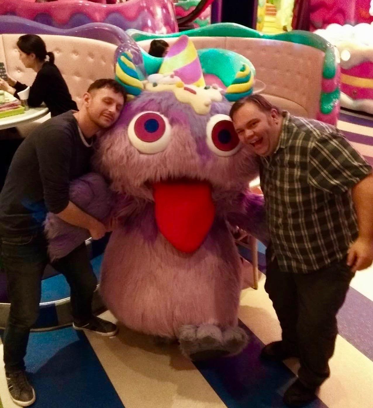Fluffy purple monster Kawaii Monster Cafe Tokyo