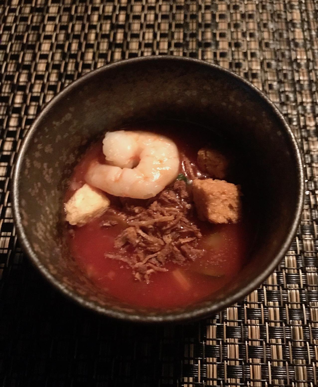 Gazpacho dish Ninja Restaurant Tokyo