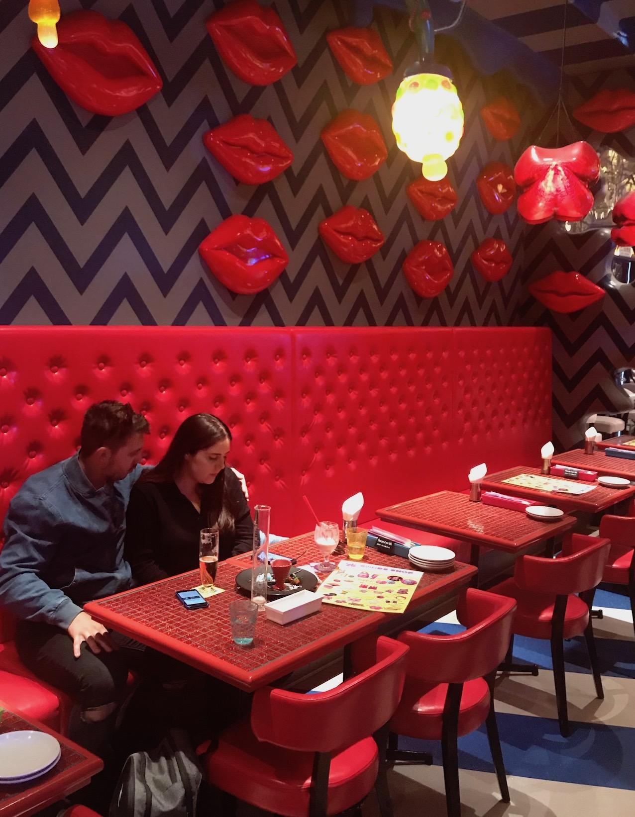 Giant lips Kawaii Monster Cafe Tokyo