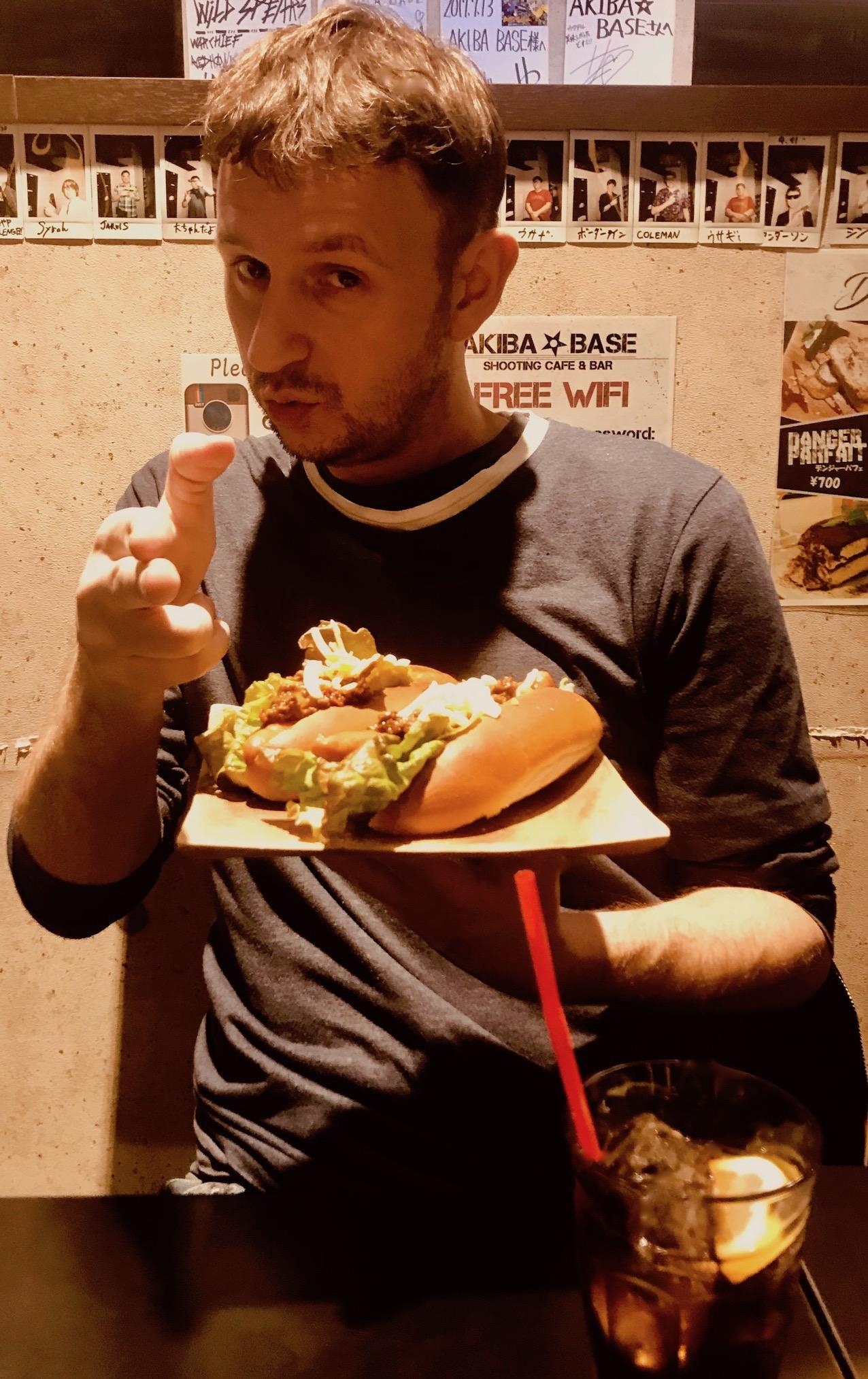 Hot dogs at Akiba Base Shooting Cafe & Bar Akihabara Tokyo