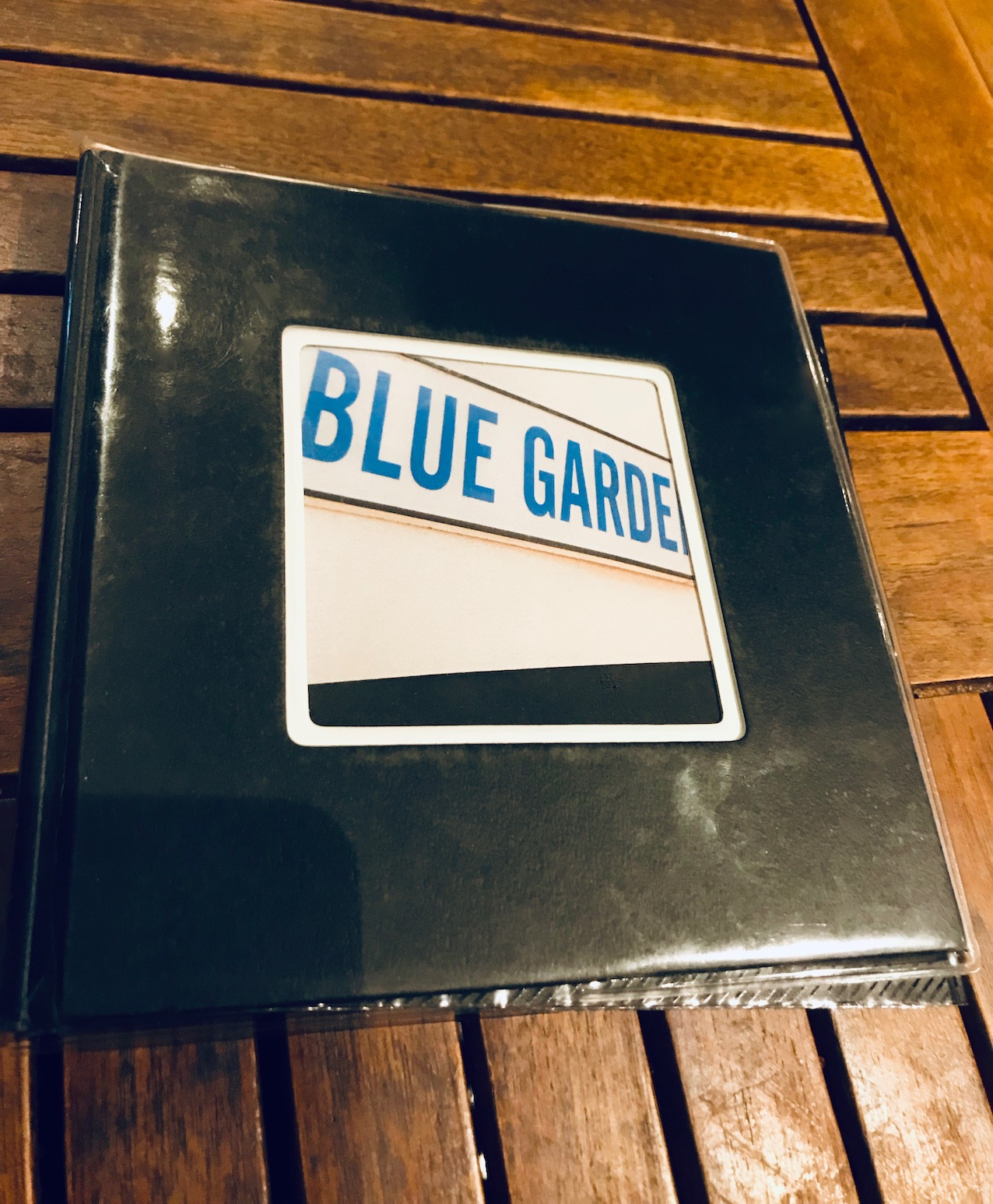 Menu Blue Garden Restaurant Brahms Path Harajuku Tokyo
