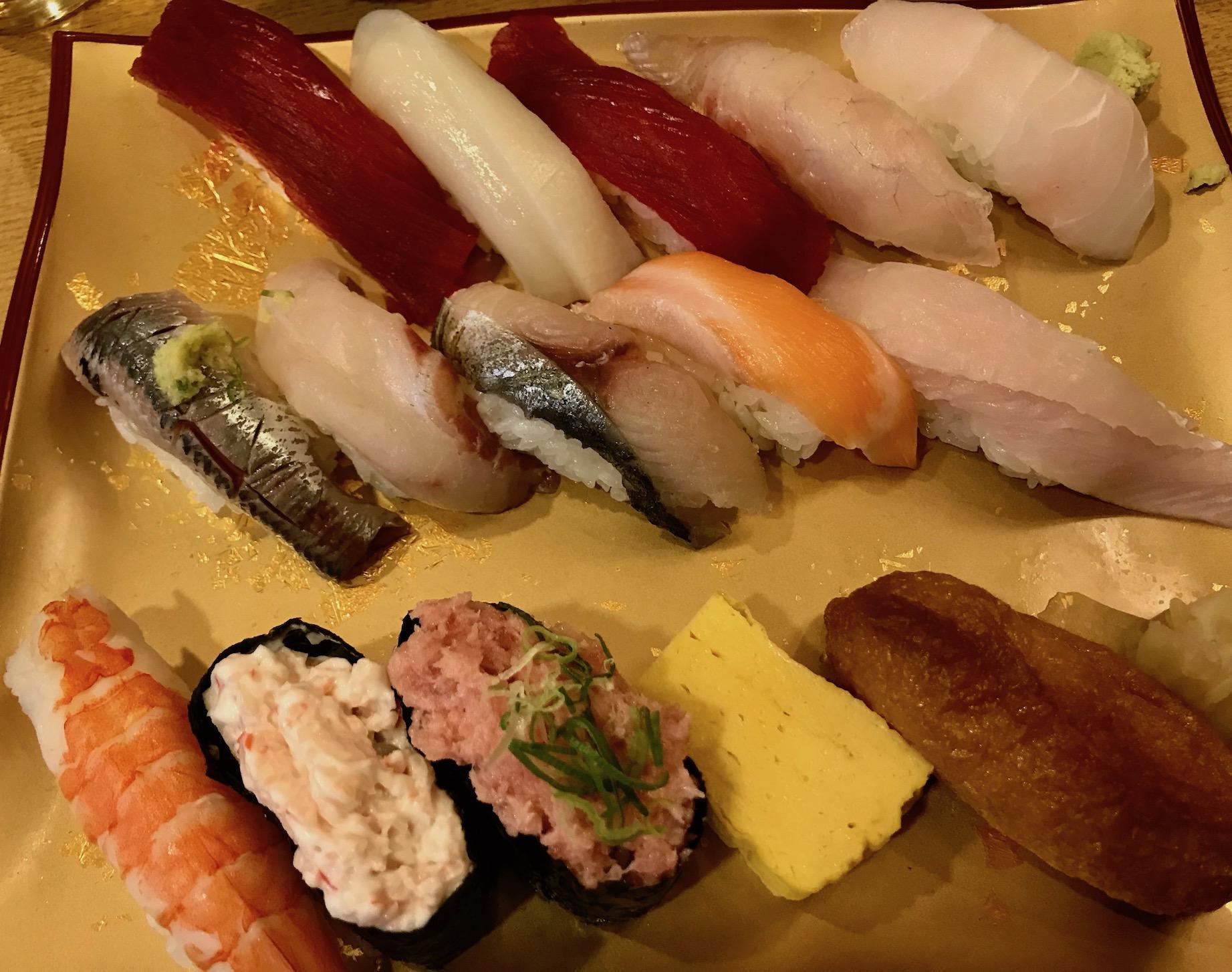 Mixed sushi platter Gran Gourmet Kitchen Street Tokyo Station