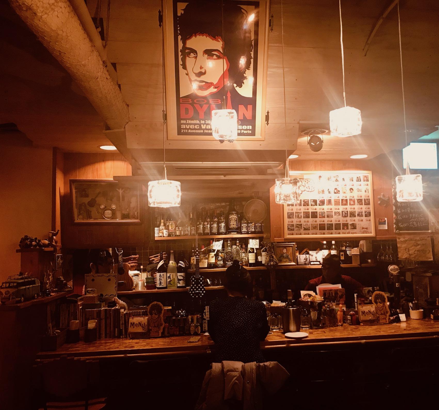 Polka Dots Bob Dylan themed bar Tokyo