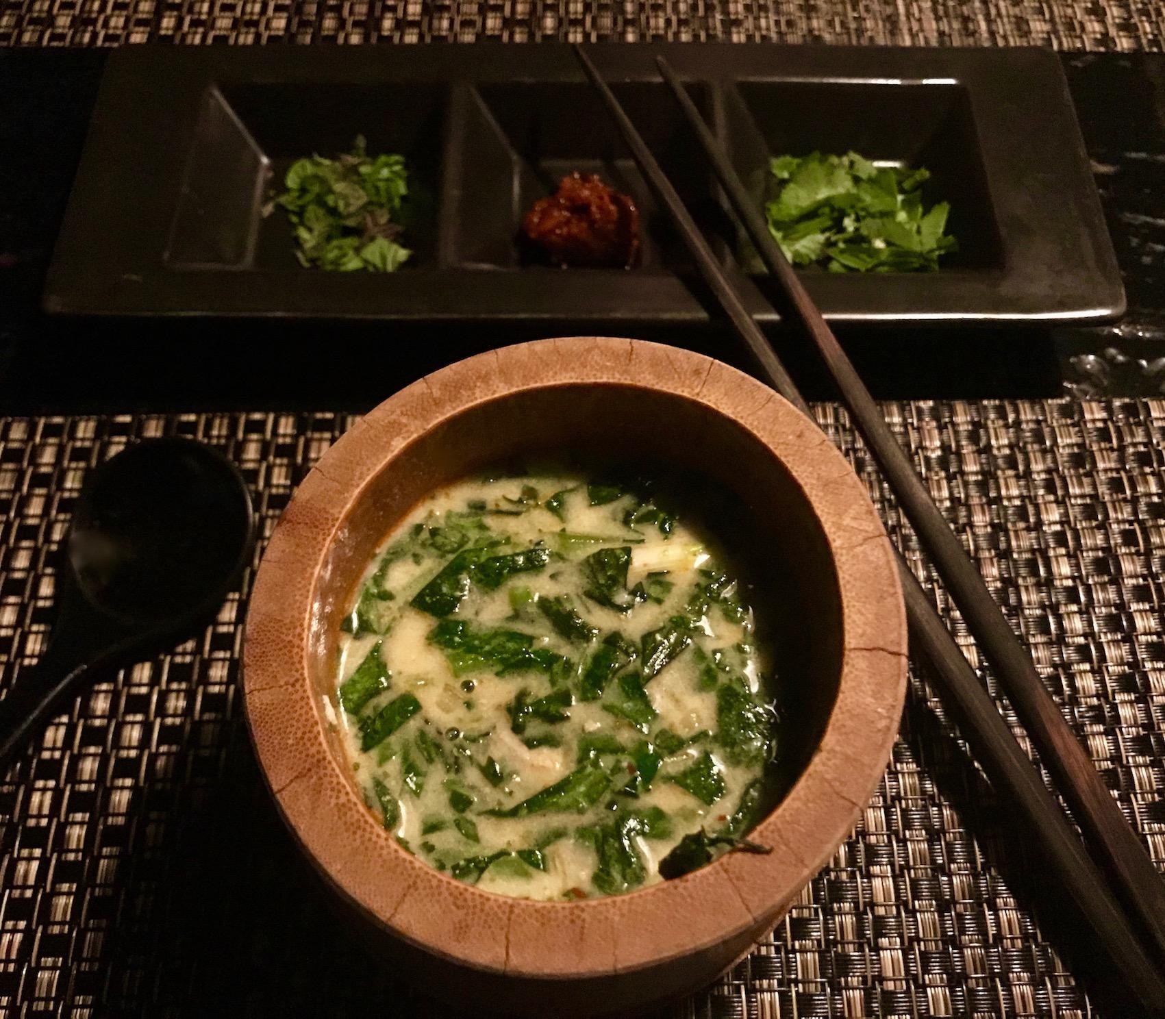Stone boiled Japanese soup The Ninja Restaurant Tokyo