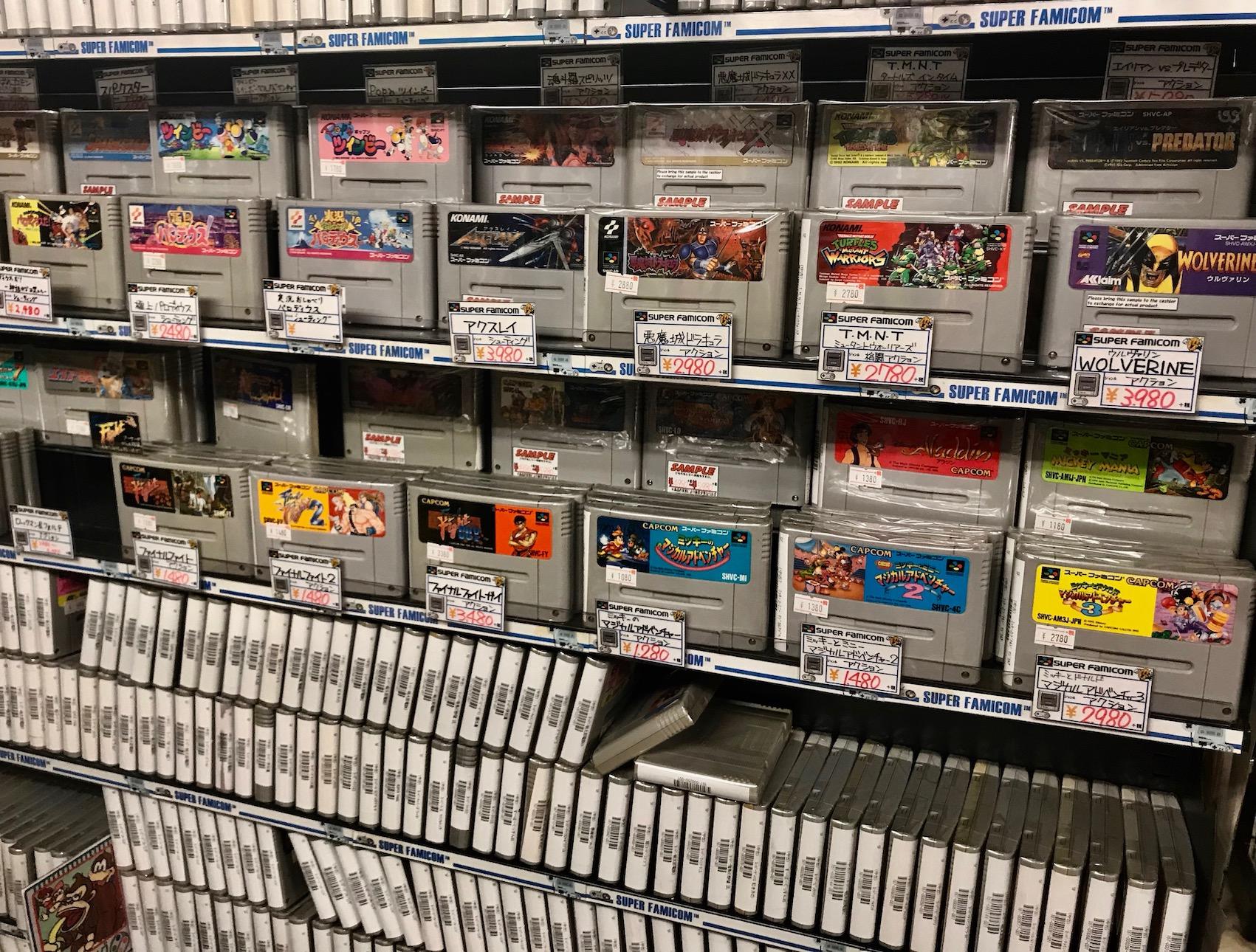 Super Famicom games Super Potato Video Games Akihabara Tokyo