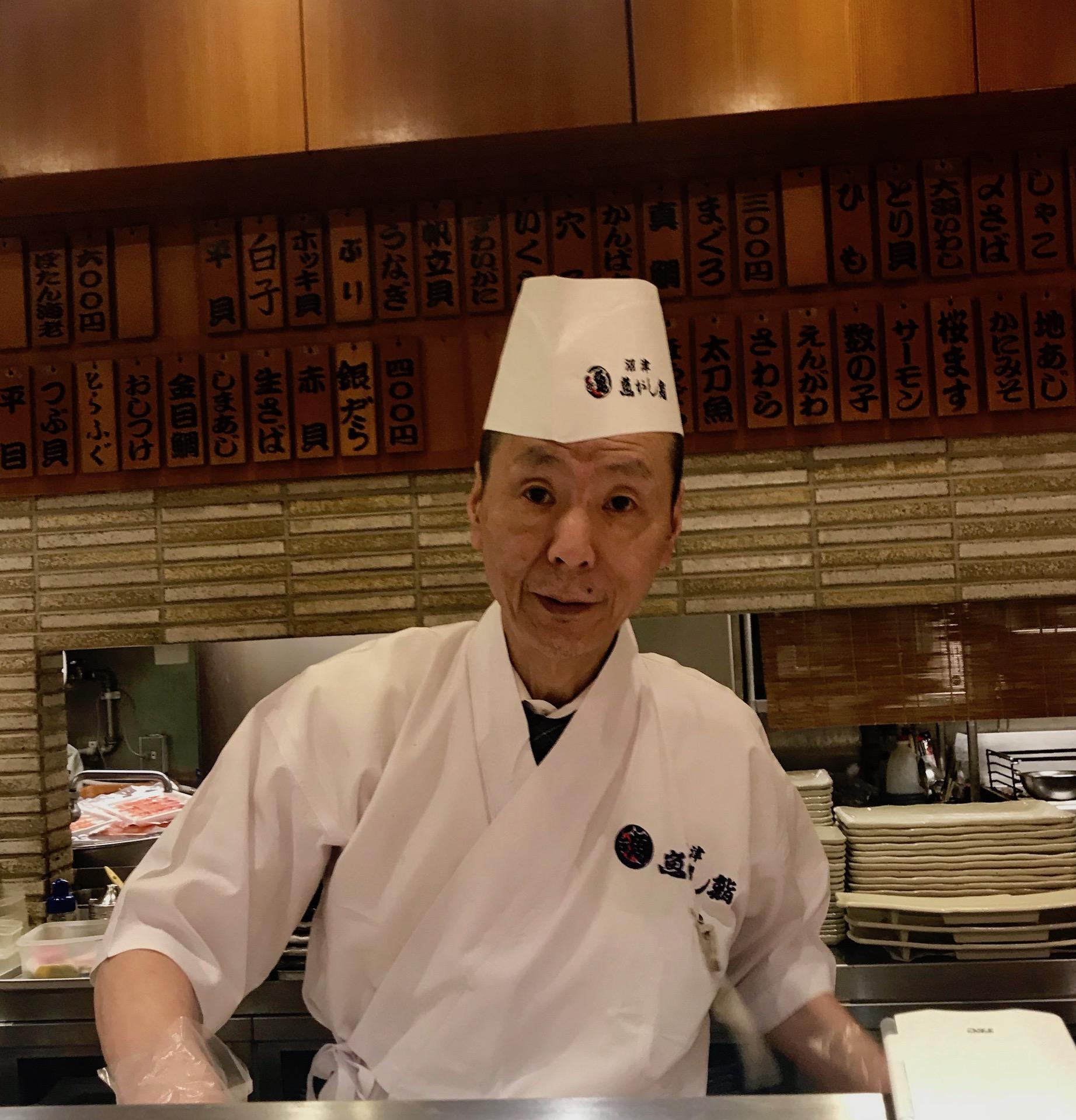 Sushi chef Gran Gourmet Kitchen Street Tokyo Station