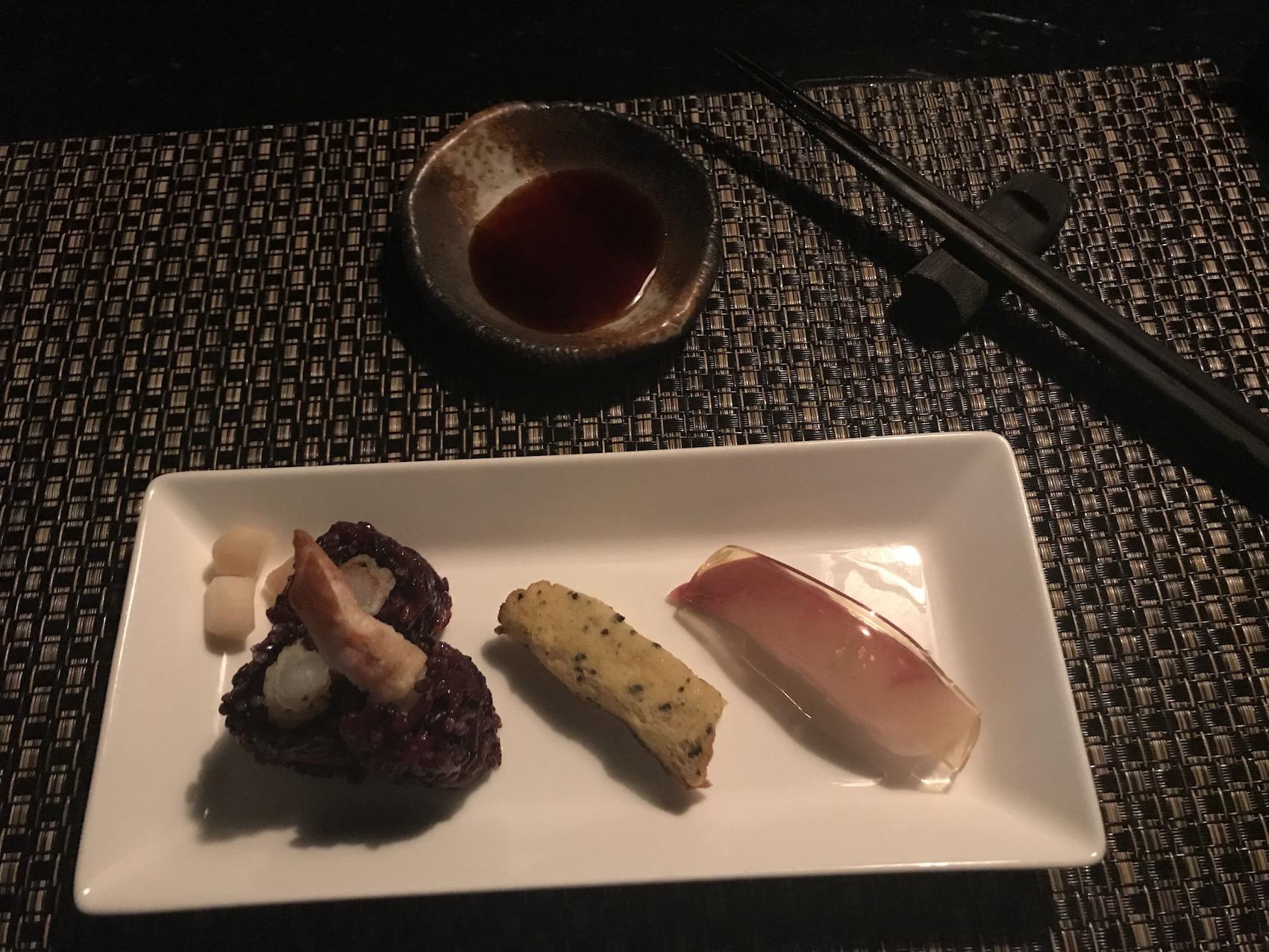 Sushi platter Ninja Akasaka Restaurant Tokyo