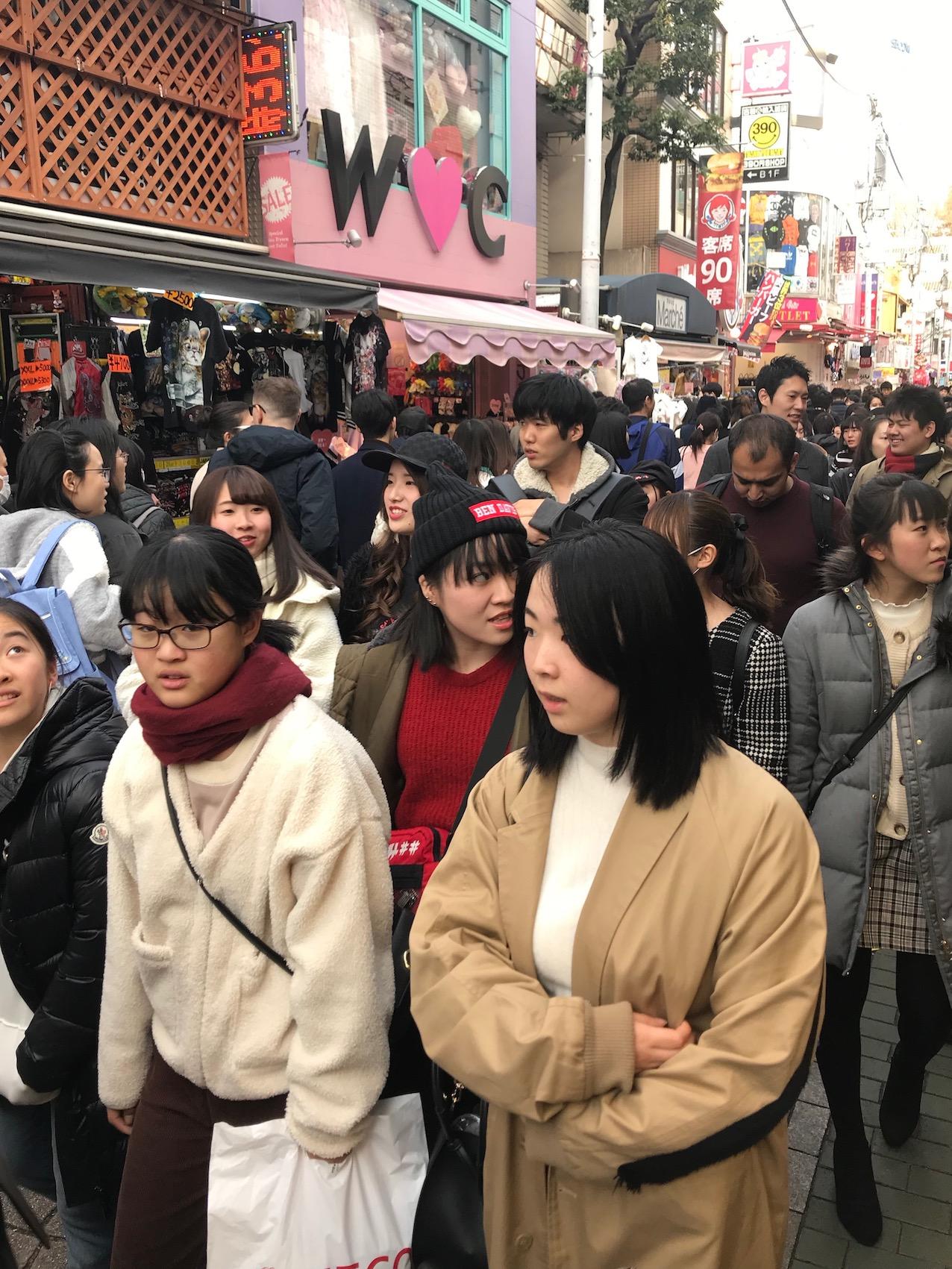 Takeshita Street Harajuku Tokyo.