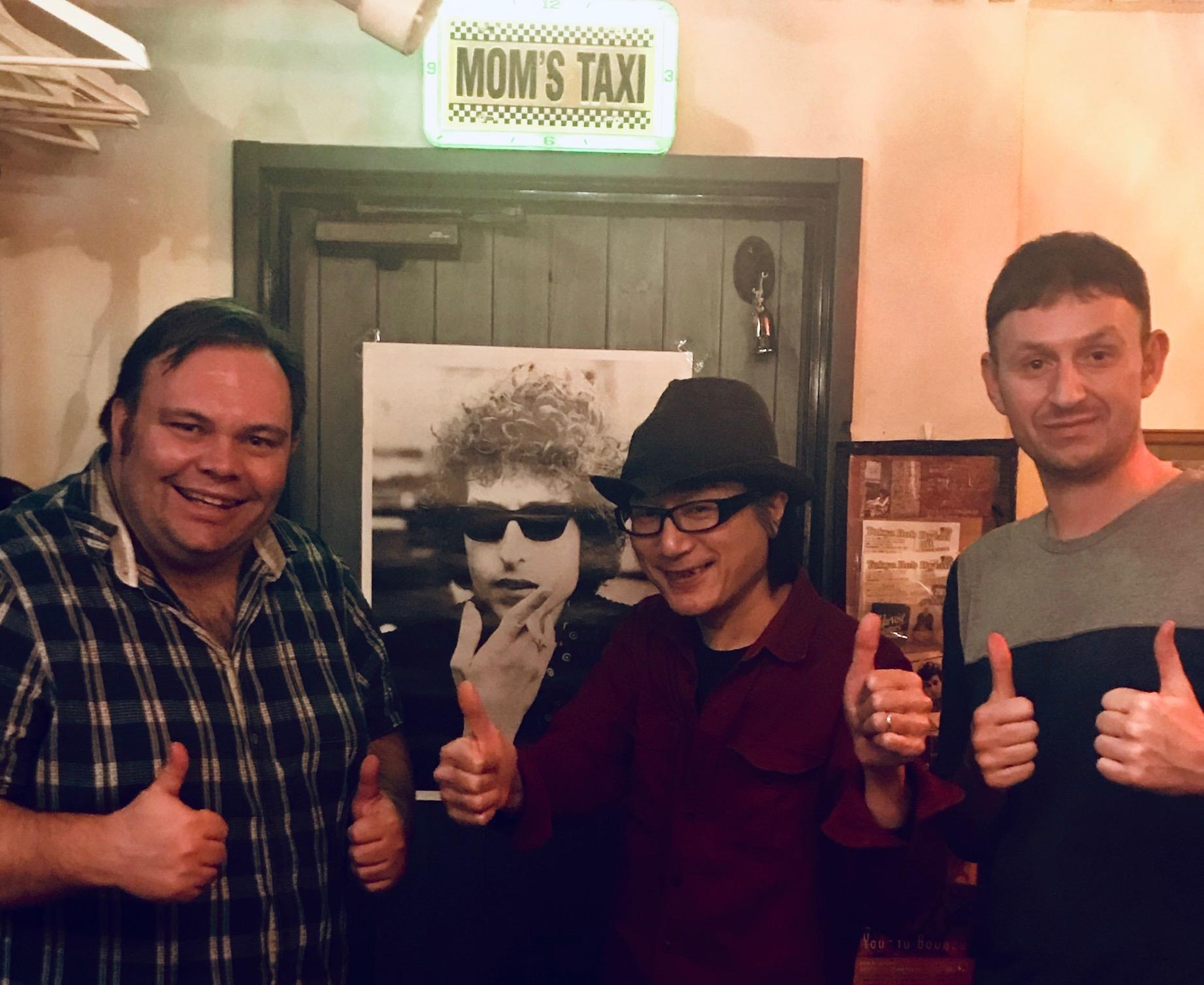 With Tokyo Bob at Polka Dots Bob Dylan Bar Tokyo
