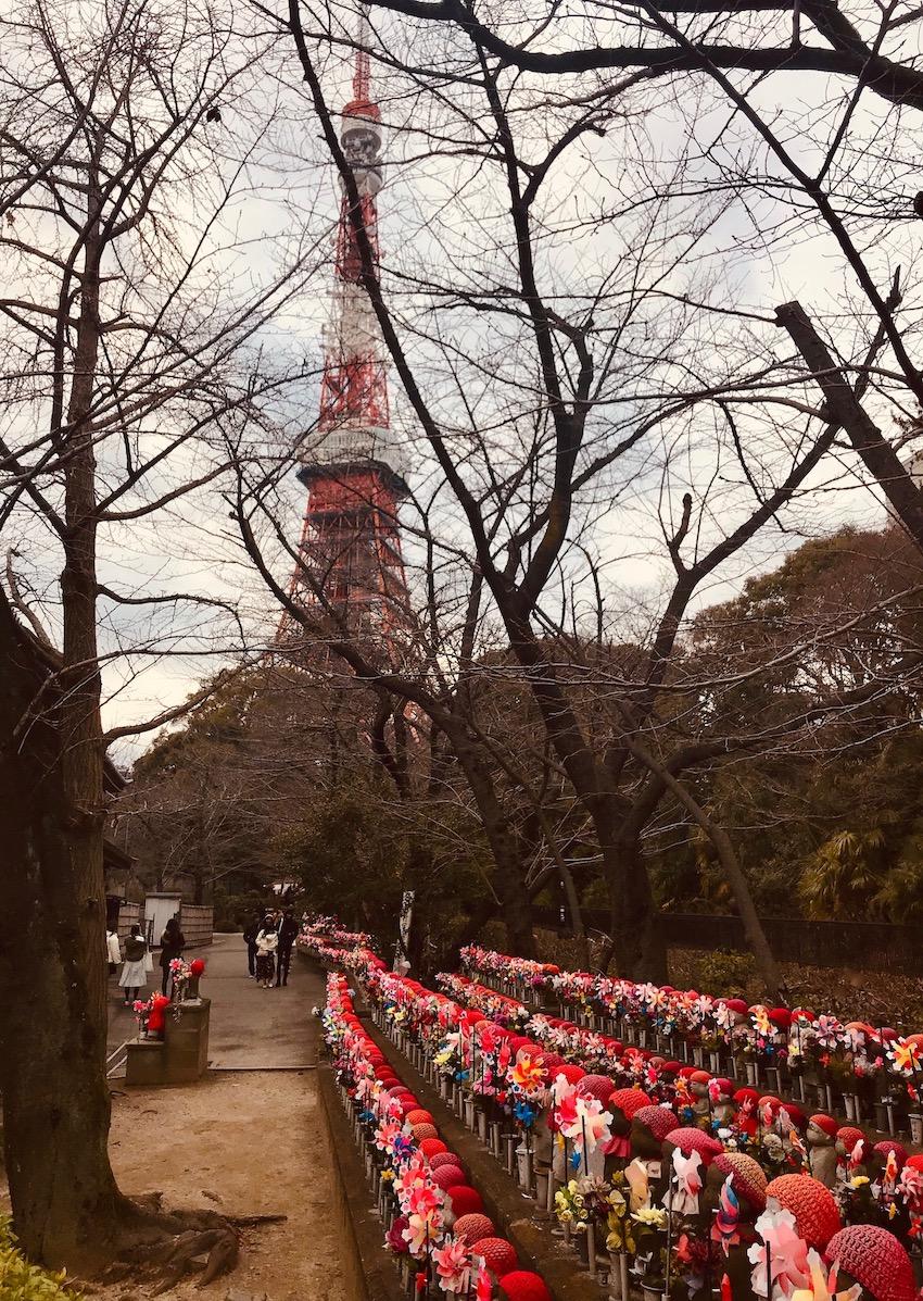 Children Care Deities Garden at Zojoji Temple Tokyo.