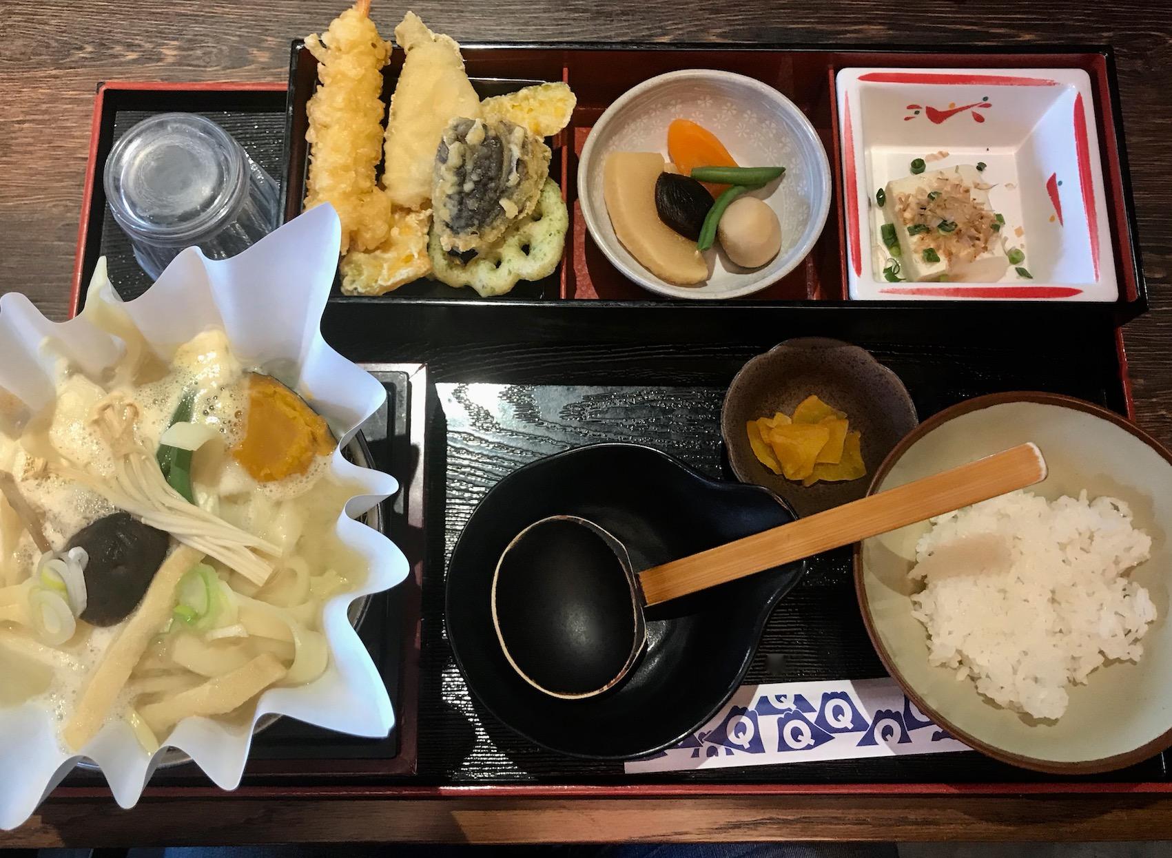 Lunch at Fuji-Q Highland Amusement Park Mount Fuji Japan.